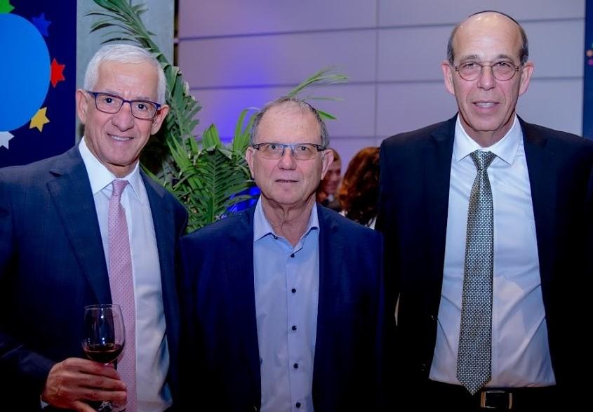 פרופ אריה צבן, רוח שלמה זוהר וחיים טייב באירוע הקונגרס הישראלי, שנת 2019