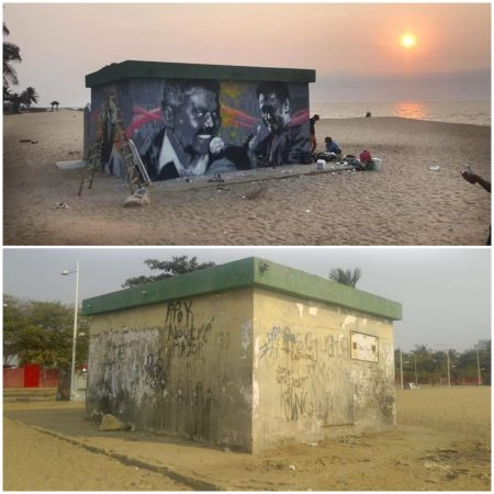The ONE VOICE initiative in Angola: filling public space with colours while honoring the heroes of COVID-19