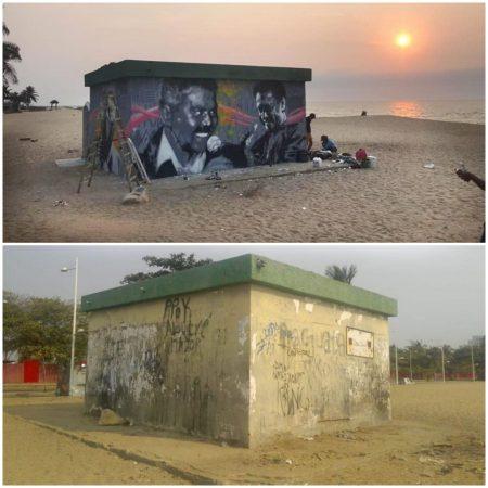 המיזם הבינלאומי ONE VOICE באנגולה- מאירים את המרחב הציבורי בצבע ומכירים כבוד לגיבורי הקורונה