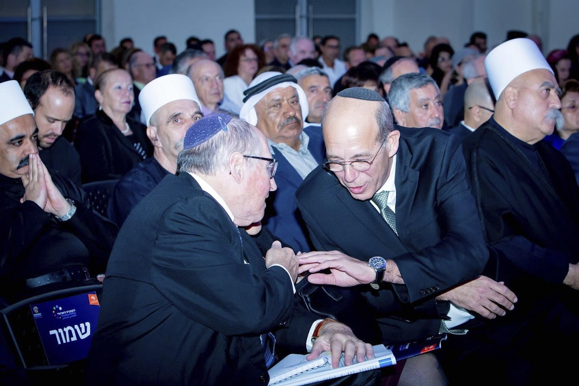 Prof. Arie Zaban the President of Bar-Ilan University and Prof. Elyakim Rubinstein, Chairman of the Israeli Congress Advisory Forum.